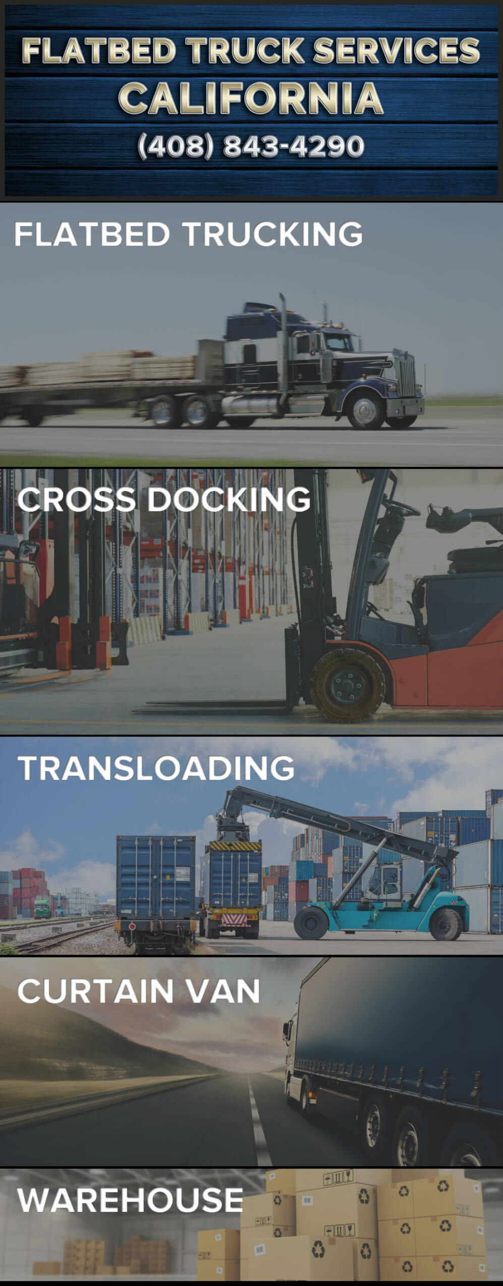 Flatbed Truck Services Cross Docking Transloading Curtain Van