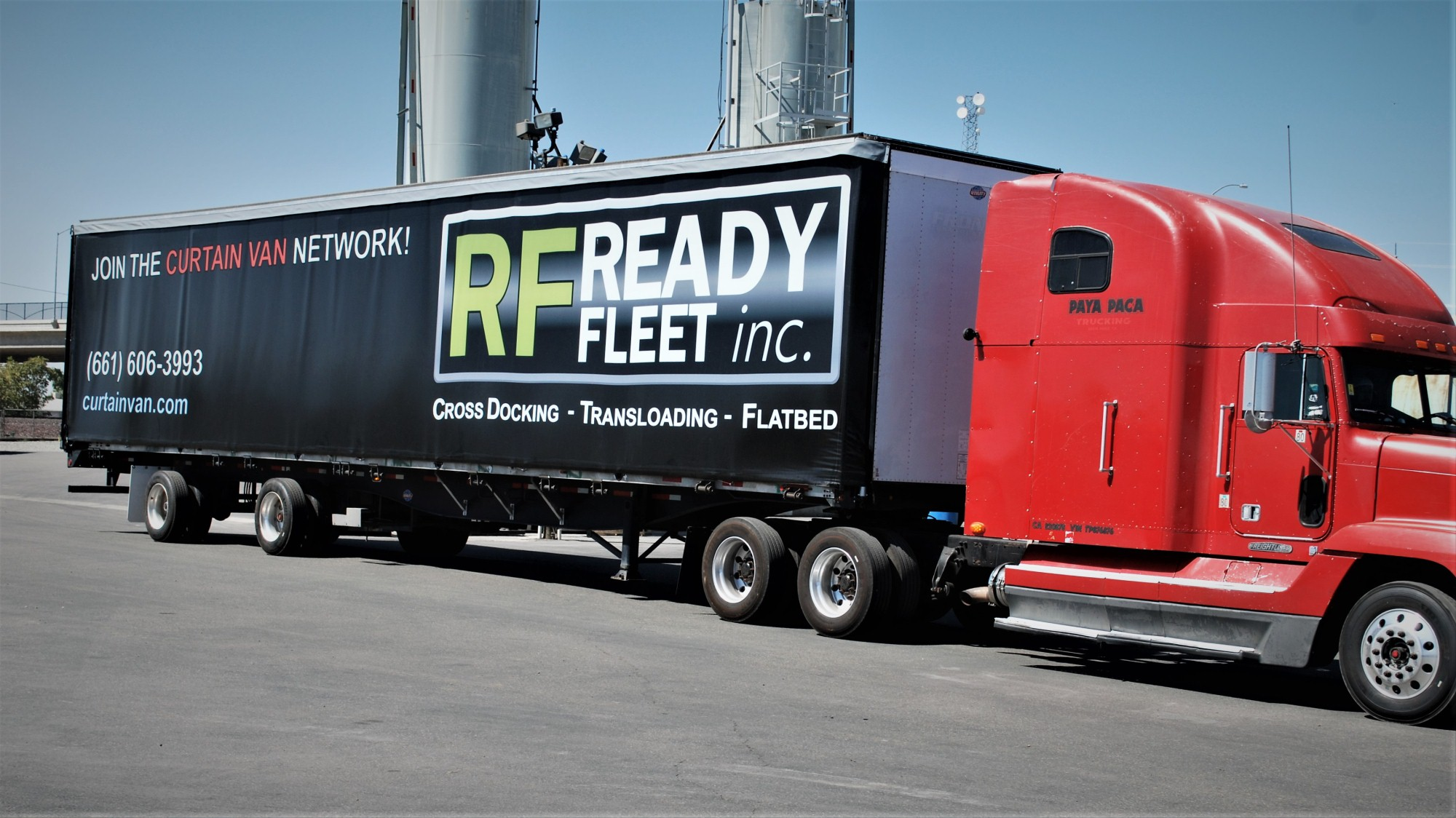 Amazing Curtain Van Trailer Fresno Ready Fleet